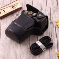 Case for Canon EOS M3 - Artificial leather, Black Case