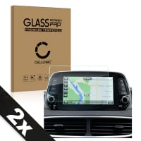 2x Screen protector glass Hyundai Tucson (2019) (2.5D, 9H, 0,33mm, Full Glue) Tempered Glass