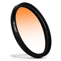 Filtro gradiente color Naranja para Nikon Nikkor Ø 55mm