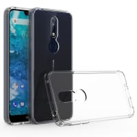 Backcover for Nokia 7.1 - Silicone, Crystal Clear Case