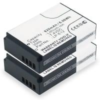 2x Batterij voor Canon EOS M, EOS M2, EOS M10, EOS 100D, EOS Rebel SL1 - LP-E12 (820mAh) vervangende accu