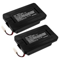 2x Akku 14.8V, 2600mAh, Li-Ion varten Hoover BH71000 Quest 1000 - 440009835, Li026148 replacement battery