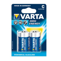 Piles batteries C / Baby Varta High energy Alkaline Varta 4914 2x