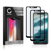 2x Panzerglas Motorola One (3D Full Cover, 9H, 0,33mm, Full Glue) Displayschutz Tempered Glass