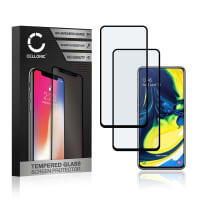 2x Panzerglas Samsung Galaxy A80 (SM-A805F) (3D Full Cover, 9H, 0,33mm, Full Glue) Displayschutz Tempered Glass