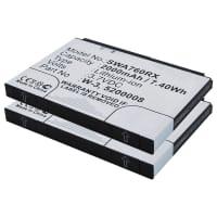 2x Akku für Sierra Wireless AirCard 760s / 762s / 763s / 785s - W-3 (2000mAh) Ersatzakku