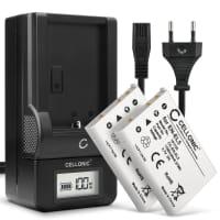 2x Batterie pour appareil photo Nikon Coolpix P510 P520 P530 P500 P100 P90 P80 P6000 P51000 P4 P3 CoolPix S10 3700 7900 5900 - EN-EL5 1180mAh + Chargeur MH-61 Batterie Remplacement