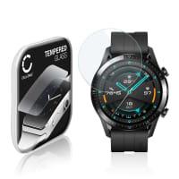 Panzerglas Huawei Watch GT 2 (46mm) (2.5D, 9H, 0,33mm, Full Glue) Displayschutz Tempered Glass