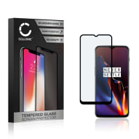 Screen protector glass OnePlus 6T (3D Case-friendly, 9H, 0,33mm, Full Glue) Tempered Glass