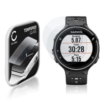 2x Näytönsuojat Lasi Garmin Forerunner 235 (2.5D, 9H, 0,33mm, Full Glue) Tempered Glass