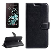 Smart Case para HTC U Ultra - Cuero artificial, negro Funda