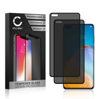 2x Privacy Skærmbeskytter glas Huawei P40 (3D Case-friendly, 9H, 0,33mm, Full Glue) Screen Protector