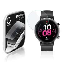 Panzerglas Huawei Watch GT 2 (42mm) (2.5D, 9H, 0,33mm, Full Glue) Displayschutz Tempered Glass