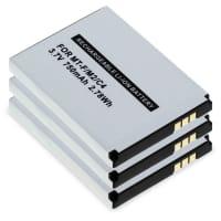 3x Batería para AVM Fritz!Fon 2000 2446, AVM Fritz!Fon C4 C5, AVM Fritz!Fon FON M2 AVM Fritz!Fon MT-F - 312BAT006,BAK130506 (750mAh) Batería de Reemplazo