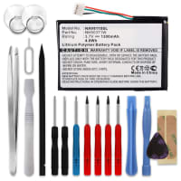 Battery for Navigon 8110 Navigon 8310 - 761NH50371W (1300mAh) + Tool-kit Spare Battery Replacement