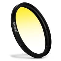 Puolivärisuodin Graduated color filter Sininen Keltainen varten Pentax smc Ø 62mm Puolivärisuodin Gradient Filter