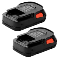 2x Battery 18V, 1.5Ah, Li-Ion for AEG BBH 18 / BSB 18 / BS 18C / BSS 18C / BTL 18 - L1815R, L1820R, L1830R, Li1840R replacement battery