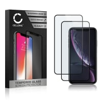 2x Panzerglas iPhone Xr (3D Case-friendly, 9H, 0,33mm, Full Glue) Displayschutz Tempered Glass