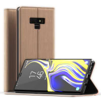 Flip Case for Samsung Galaxy Note 9 - PU Leather, Golden Case