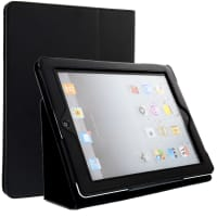 Smart Cover per Apple iPad 2 / iPad 3 / iPad 4 (Wake / Sleep) - Similpelle, nero Custodia Borsa Guscio