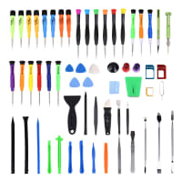 60-piece phone repair kit, with 7 x Pentalobe screwdrivers, 5 x TORX® screwdrivers, tweezers & more | precision repair tools