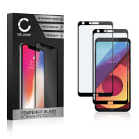 2x Displaybeschermglas LG Q6 (3D Full Cover, 9H, 0,33mm, Full Glue) Tempered Glass