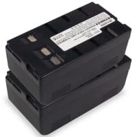 2x Akku für Panasonic LC-1 NV-A3 -A1 NV-R50 -R500 -R30 -R10 NV-S88 -S85 -S70 -S7 -S20 -S1, JVC GR-AX7 -AX5 -AX2 GR-AXM230 -AX210 -AX200 GR-SXM240 - BN-V11U PV-BP15 4200mAh Ersatzakku