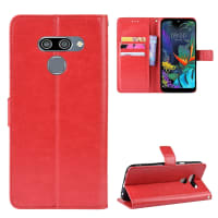 Case for LG K50 / Q60 - PU Leather, Red Case