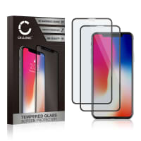 2x Screen protector glass iPhone X (3D Case-friendly, 9H, 0,33mm, Full Glue) Tempered Glass