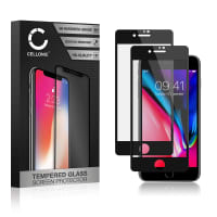2x Screen protector glass iPhone 7 / iPhone 8 (A1660, A1778, A1779, A1863, A1905...) (3D Case-friendly, 9H, 0,33mm, Full Glue) Tempered Glass