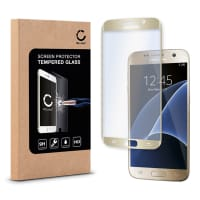 Cristal protector de la pantalla para Samsung Galaxy S7 (SM-G930 / SM-G930F) - Tempered Glass (Calidad HD / 3D Full Cover / 0,33mm / 9H)