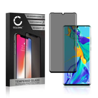 Privacy Screen protector glass Huawei P30 Pro (3D Case-friendly, 9H, 0,33mm, Edge Glue) Tempered Glass