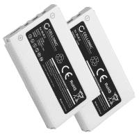 2x Batería para Nokia 8210 / 8310 / 8850 / 8890 / 5210 / 6510 / 7650 / 3610 - BLB-2 (1000mAh) , Batería de Reemplazo