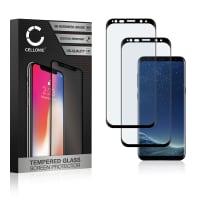2x Displayschutzglas Samsung Galaxy S8 (SM-G950 / SM-G950F) (3D Full Cover, 9H, 0,33mm, Full Glue) Displayschutz Tempered Glass