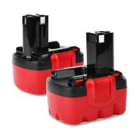 2x Batterie 14.4V, 3Ah, NiMH pour Bosch PSR14.4, PSR 1440, ART26 Easytrim, PSR 14.4ve-2 - 2607335711, BAT140, 2607335685, 2607335686, 2607335432 batterie de rechange pour outils électroportatifs