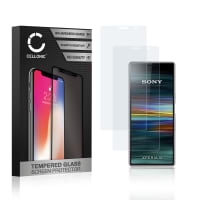 2x Panzerglas Sony Xperia 10 (3D Full Cover, 9H, 0,33mm, Edge Glue) Displayschutz Tempered Glass