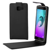 Flip Cover para Samsung Galaxy A3 (2016 - SM-A310) - Cuero artificial, negro Funda