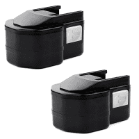 2x Battery 12V, 3Ah, NiMH for Milwaukee LokTor P 12 P / LokTor P 12 PX / LokTor P 12 T - 4 932 367 904, 4 932 373 522, 4 932 376 508, 49-24-0150, PBS 3000 Spare Battery Replacement