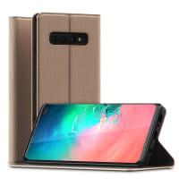 Flipcase Samsung Galaxy S10 Plus (SM-G975F) PU Leather gouden Book Case Portemonnee Hoesje Flip Hoesje Book Cover Flip Wallet met Kaarthouder