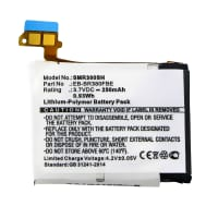 Battery for Samsung Gear 2 (SM-R380) - B1230J1EA, EB-BR380FBE, PGF582224H (250mAh) Replacement battery