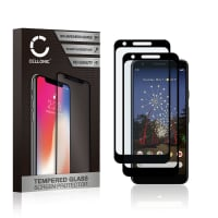 2x Panzerglas Google Pixel 3a (3D Case-friendly, 9H, 0,33mm, Edge Glue) Displayschutz Tempered Glass
