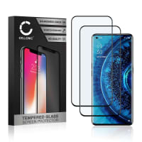 2x Näytönsuojat Lasi Oppo Find X2 / Find X2 Pro (3D Full Cover, 9H, 0,33mm, Full Glue) Tempered Glass