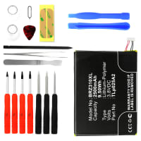 Battery for BlackBerry Z3 - TLp025A2 (2500mAh) + Tool-kit, Replacement battery