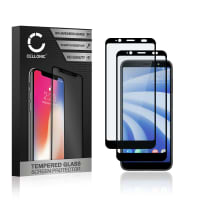 2x Näytönsuojat Lasi HTC U12 Life (3D Full Cover, 9H, 0,33mm, Full Glue) Tempered Glass