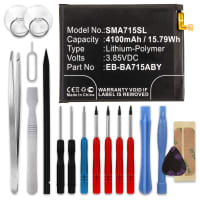 Battery for Samsung Galaxy A71 (SM-A715) - EB-BA715ABY (4100mAh) + Tool-kit, Replacement battery