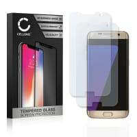 2x Protection d'écran en verre Samsung Galaxy S7 Edge (SM-G935 / SM-G935F) (3D Full Cover, 9H, 0,33mm, Edge Glue) Verre trempé