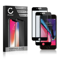 2x Screen protector glass iPhone 7 Plus / iPhone 8 Plus (A1864, A1897, A1661, A1784..) (3D Case-friendly, 9H, 0,33mm, Full Glue) Tempered Glass