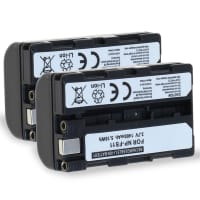 2x Akku für Sony CCD-CR1 Ruvi, Cyber-shot DSC-F505, -F55, DSC-P1, -P20, -P30, -P50, DCR-PC1, -PC2, -PC3, -PC4, -PC5, DCR-TRV1VE - NP-FS11 1400mAh Ersatzakku