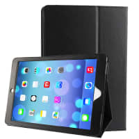 Smart Case for iPad Air 1 (A1474 / A1475) / iPad 5 (A1822/ A1823) (Wake / Sleep) - Artificial leather, black Case