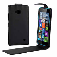Flip Cover for Nokia / Microsoft Lumia 640 - Artificial leather, black Case